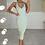 Thumbnail: JESSICA Mint Premium Rib Cross Back Midi Dress
