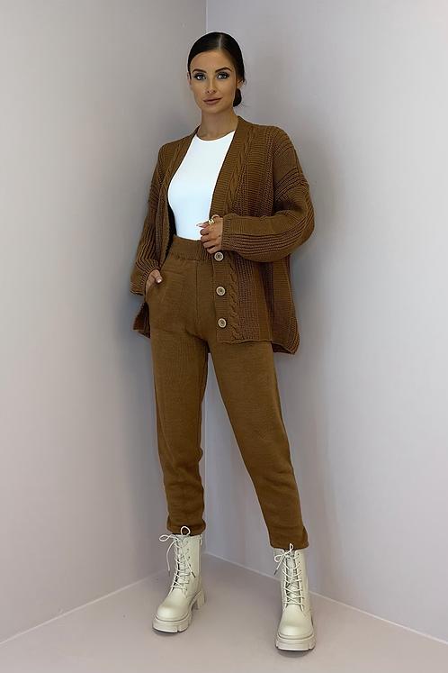 ROXY Cinnamon Knitted Cardigan Co Ord