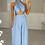 Thumbnail: ELLA Baby Blue Multiway Silky Palazzo Co Ord