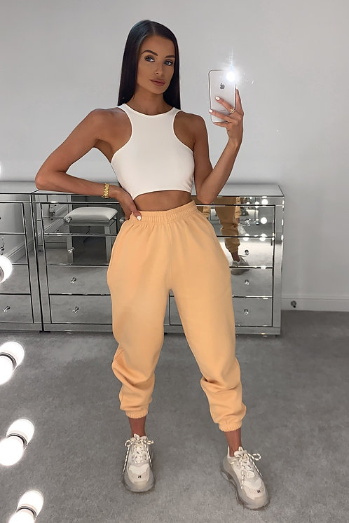 PIA Peach High Waisted Thick Joggers