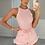 Thumbnail: CINDY Premium Pink Aztec Ribbed Bodysuit (SALE)