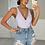 Thumbnail: VIENNA Diamanté High Waisted Denim Shorts (SALE)