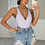 Thumbnail: CLARISSA Lilac Plunge Front Ribbed Bodysuit (SALE)