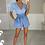 Thumbnail: CHLOE Blue High Waisted Paper Bag Shorts
