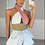 Thumbnail: LISA Colour Block Textured Halterneck Crop Top