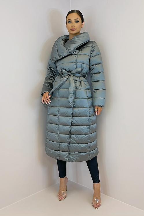 ADDISON Grey Longline Padded Coat