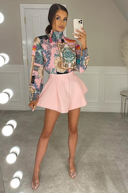 ASHLEY Pink Multi Pattered Shirt