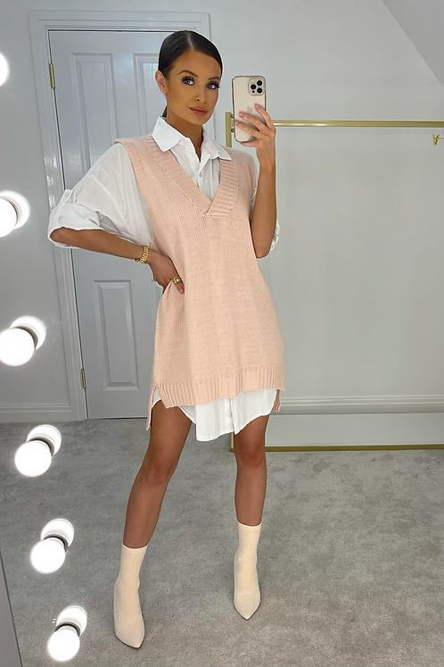 HEIDI Blush Pink Jumper & Shirt Dress
