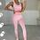 Thumbnail: KELLY Premium Candy Pink Textured Gym Set