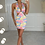 Thumbnail: DARCY Pink/Lemon Cut Out Mini Dress
