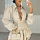 Thumbnail: ILIANA Beige Oversized Collar Gold Button Shirt (Bag Included)