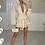 Thumbnail: KENDRA Beige High Waisted Gypsy Skirt