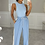Thumbnail: JENNA Baby Blue Ribbed Bodysuit