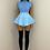 Thumbnail: BEATRIX Blue Shoulder Padded Knit Top