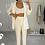 Thumbnail: ELIZABETH White Structured Pant Suit (SALE)