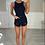 Thumbnail: HAZEL Black Ribbed Backless Bodysuit