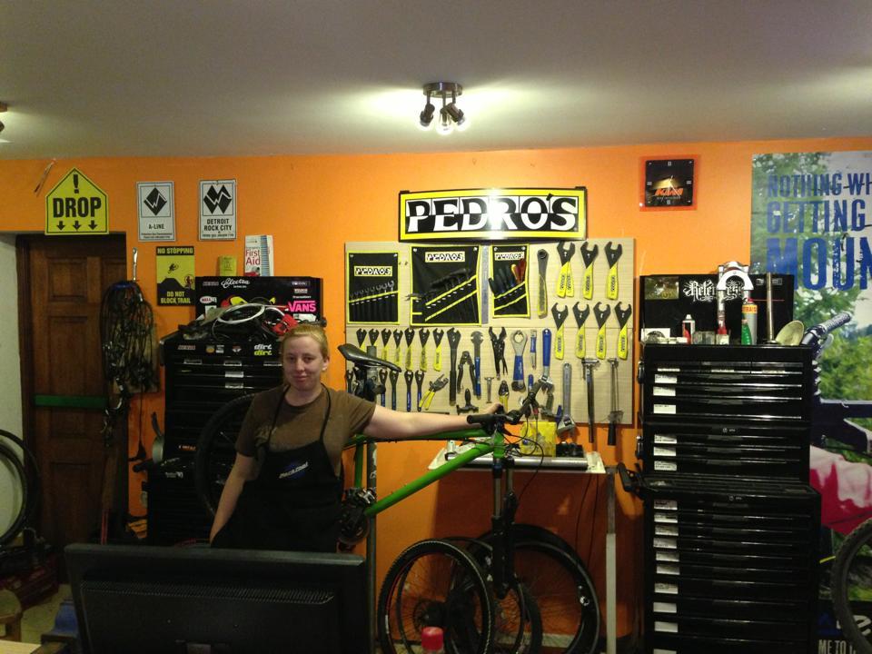 fully stocked workshop