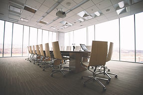 boardroom with chair and table