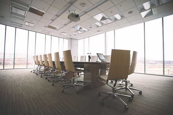 modern conference room with a/v system