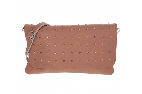 Leather Handbag Dusty Rose/Burgundy