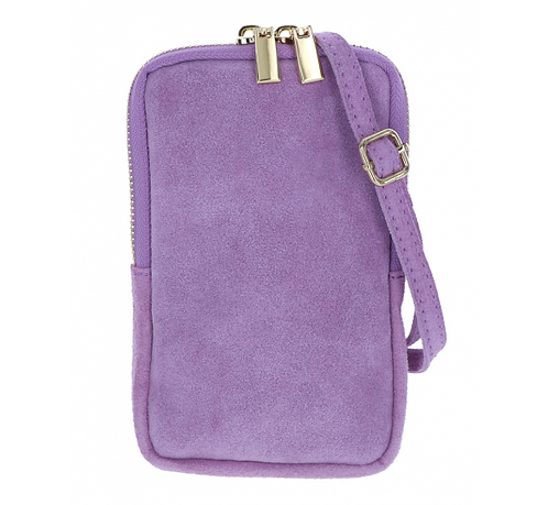 Suede Pouch Light Lilac