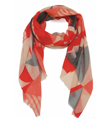 Scarf Multi Red
