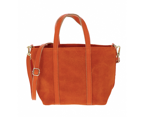 Suede Handbag Orange