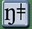 Phonetic symbol for the palato-alveolar nasal click.