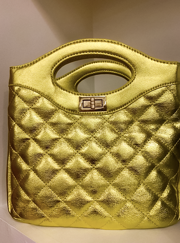 Bucket Gold Bag