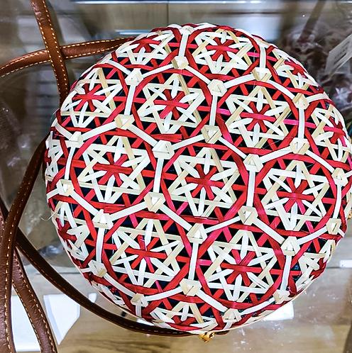 Round Red Shoulder Bag