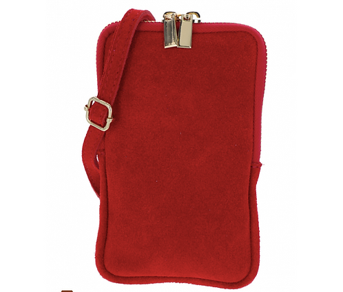 Suede Pouch Red