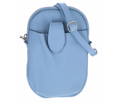 Leather Pouch Light Blue