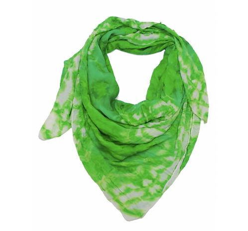 Shawl Squared Printed Army Green