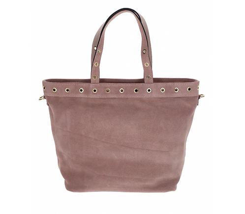 Suede Handbag Rose