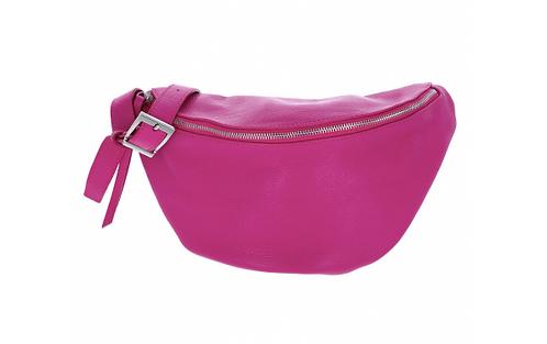Leather Handbag Fuchsia