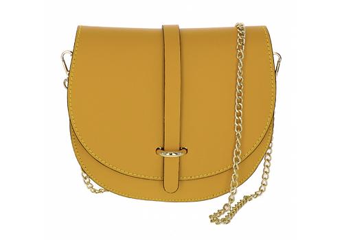 Leather Handbag Yellow/Gold