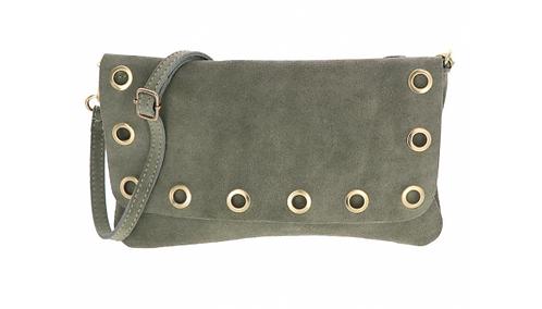 Suede Shoulder Bag Light Green