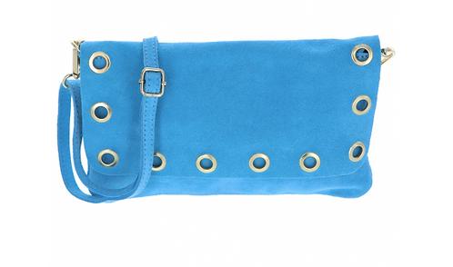 Suede Shoulder Bag Sky Blue