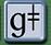 Phonetic symbol for the voiced palato-aveolar click.