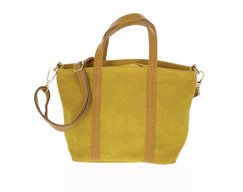 Suede Handbag Yellow