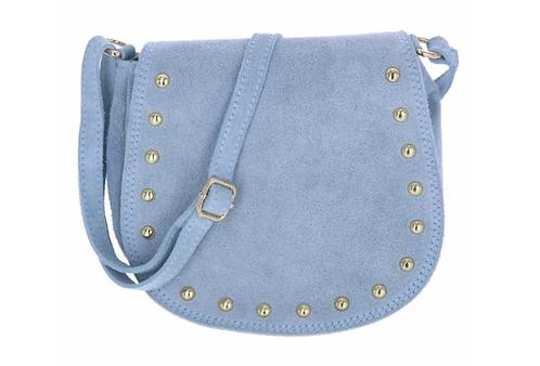 Suede Shoulder Bag Powder Blue