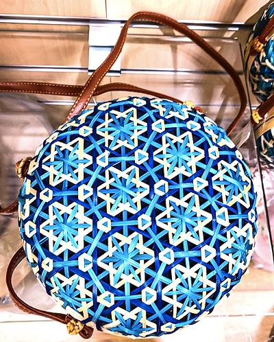 Round Blue Shoulder Bag