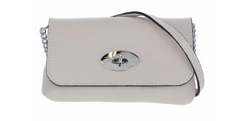 Leather Handbag Beige