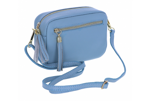 Leather Handbag (Pouch) Royal Blue