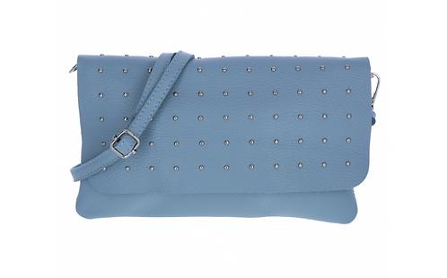 Leather Handbag Light Blue