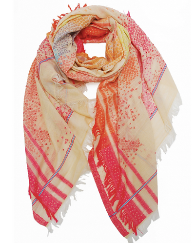 Shawl Multi Orange