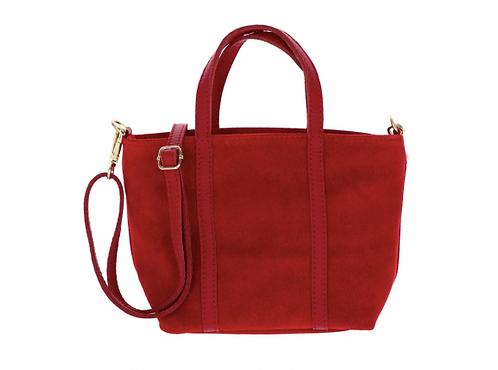 Suede Handbag Red