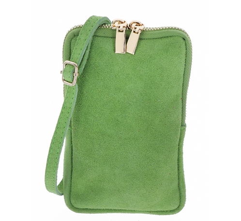 Suede Pouch Army Green