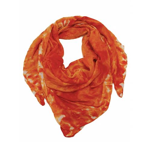 Shawl Squared Printed Orange