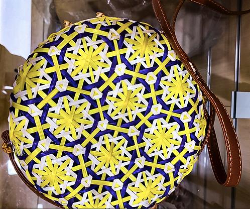 Round Yellow Shoulder Bag